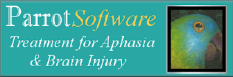 Aphasia and Brain Injury Therapy using Parrot Software